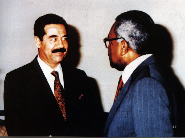 Trevor McDonald with Saddam Hussein