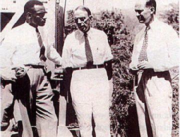 Principal Tayor with VP Philip Sherlock (right) & registrar Hugh Springer planning for UWI's own facilities in 1949