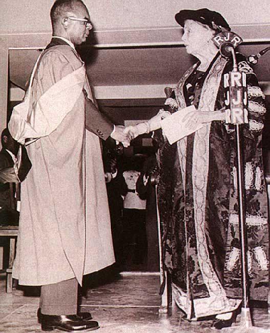 Oxford grad & then Trinidad & Tobago Prime Minister Eric Williams honoured in 1966