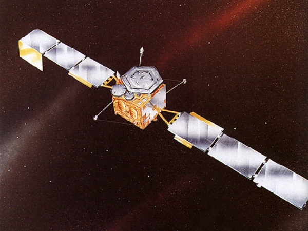 An artist's impression of the INMARSAT satellite launched by Ariane