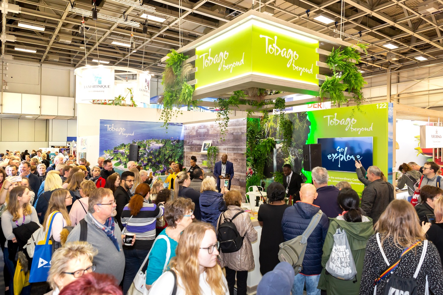 "Tobago's stand at ITB Berlin in March 2019, where TTAL engaged with the German travel trade and launched the destination's brand ""Tobago Beyond"""
