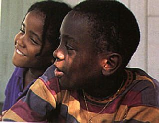 Rudder's sons, Isaac (left) and Khafra (right). Photograph by Abigail Hadeed