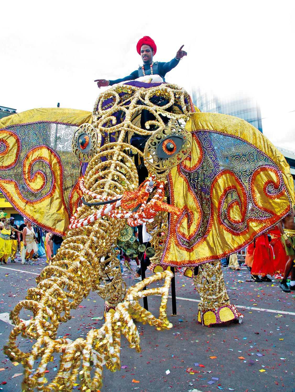 """Raj Kumar Boyie"" the King of Carnival portrayal from 2007's India: the story of Boyie. Photograph by Andrea DeSilva"