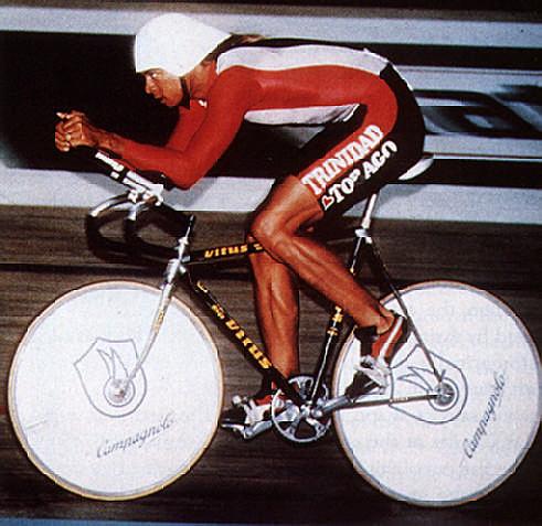 Trinidad & Tobago cyclist Gene Samuel