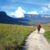 Brian on the trail to Roraima, with Kukenen to the left. Photograph by Nicholas Laughlin
