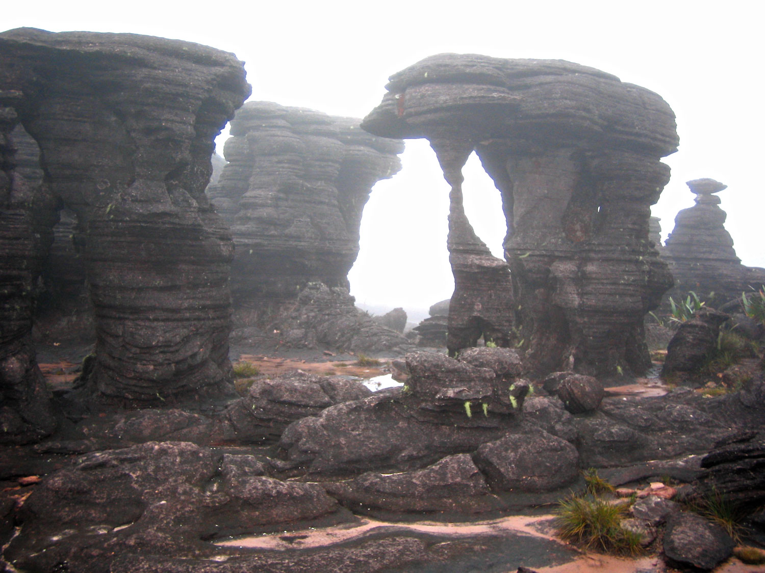 This group of wind-carved rocks is called 'The Cradle of Jesus'. Photograph by Nicholas Laughlin