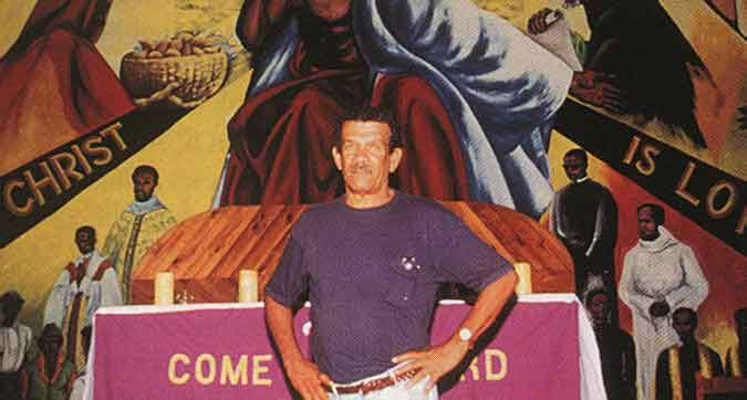 Nobel prize-winner Derek Walcott celebrated his friendship with Dunstan St Omer in his poetry. Photograph by Bruce Paddington
