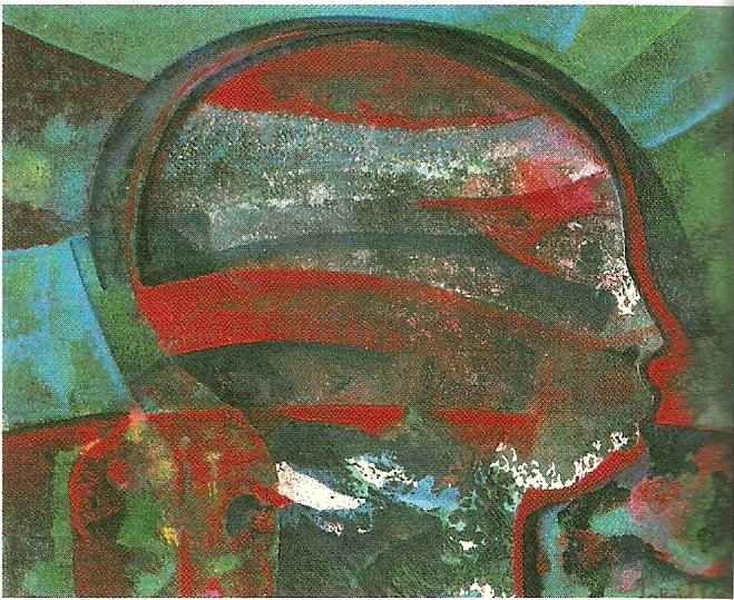 Acrylic on paper (1988, 24×18 ins). Photograph courtesy Aquarela Galleries