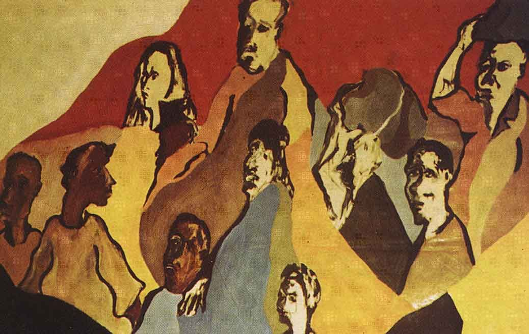 Detail From The Fire (1969-70, acrylic on canvas, 8×10 ft.; Museum of Modern Art São Paolo). Photograph courtesy Winston Branch