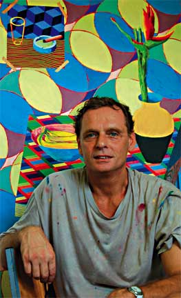 Dennis de Caires in his studio in Barbados. Photograph courtesy Dennis de Caires