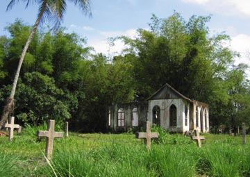 The cemetery at ruined St Chad's Church in Tucker Valley. Photograph by Ranji Ganase