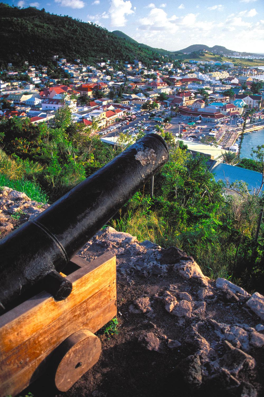 Fort Louis offers a wonderful view of Marigot. Photograph by Donald Nausbaum