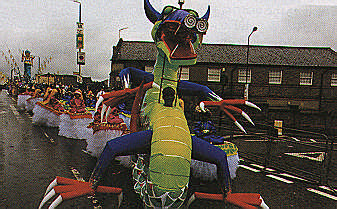 Enter the dragon; 1997 Carnival in Notting Hill. Photograph by Horace Ové