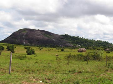 Shea Rock is one of the south Rupununi's best-known natural landmarks. Photograph courtesy Vitus Antone/Conservation International