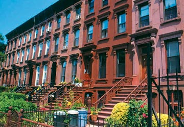 Brooklyn brownstones. Photograph by Sol McCants