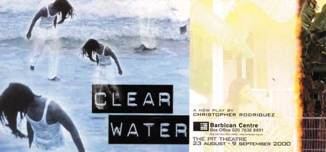 The handbill for Clear Water. Photograph courtesy Oval House Theatre