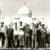 Posing with the West Indies team in front of the Taj Mahal during the 197-75 tour of India