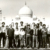 Posing with the West Indies team in front of the Taj Mahal during the 1974-75 tour of India