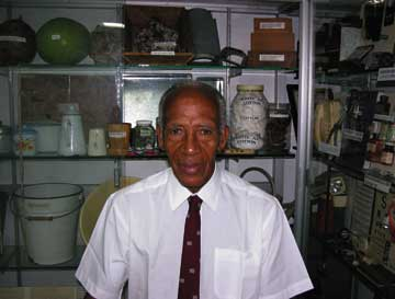 """Dr Cecil Cyrus, """"the Isolated Surgeon of St Vincent�?. Photograph by Erica McIntosh"""