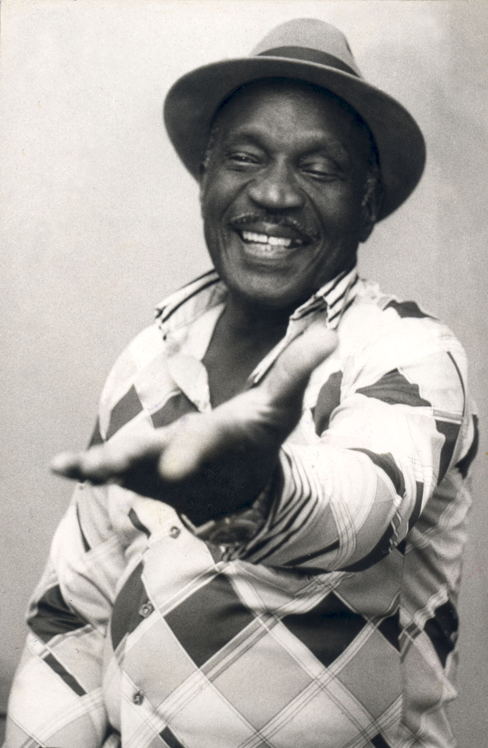 Fitzgerald Henry, better known as the Mighty Terror, the man with the golden voice. Photograph by Caldeo Sookram