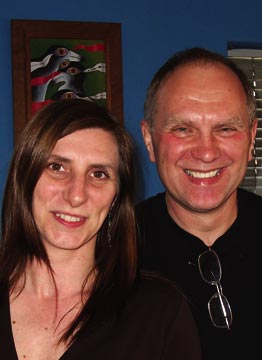 Hannah Bannister and Jeremy Poynting of Peepal Tree Press. Photograph courtesy Peepal Tree Press