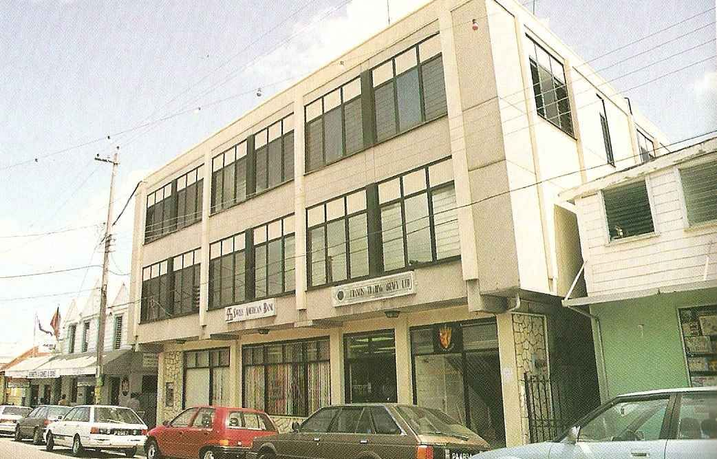 The Swiss American Bank in St John's was the first offshore financial operation in Antigua. Photograph by Chris Huxley