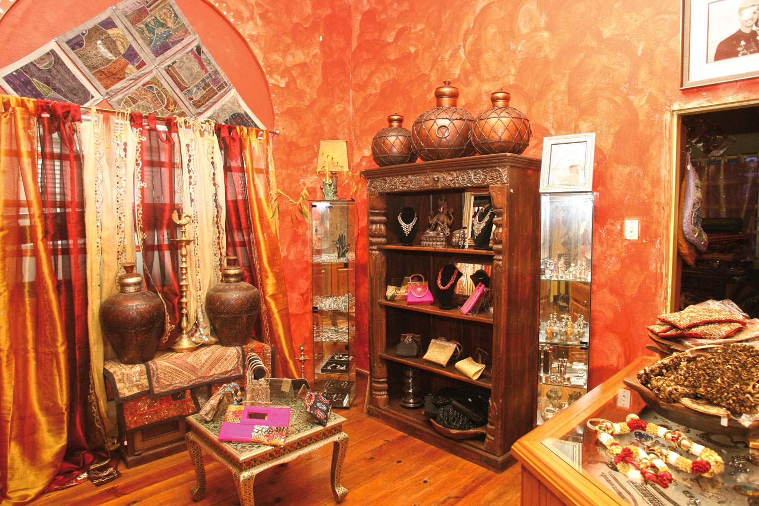 Household accessories and Indian trinkets at House of Jaipur. Photograph by Shirley Bahadur