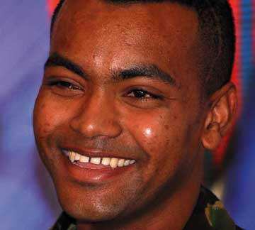 Johnson Beharry. Photograph by Paul Grover