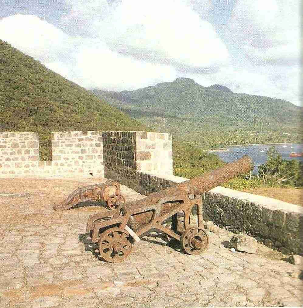 Fort Shirley in northern Dominica was reclaimed from the forest and restores under Lennox Honychurch's direction in the 1980s. Photograph courtesy Lennox Honychurch