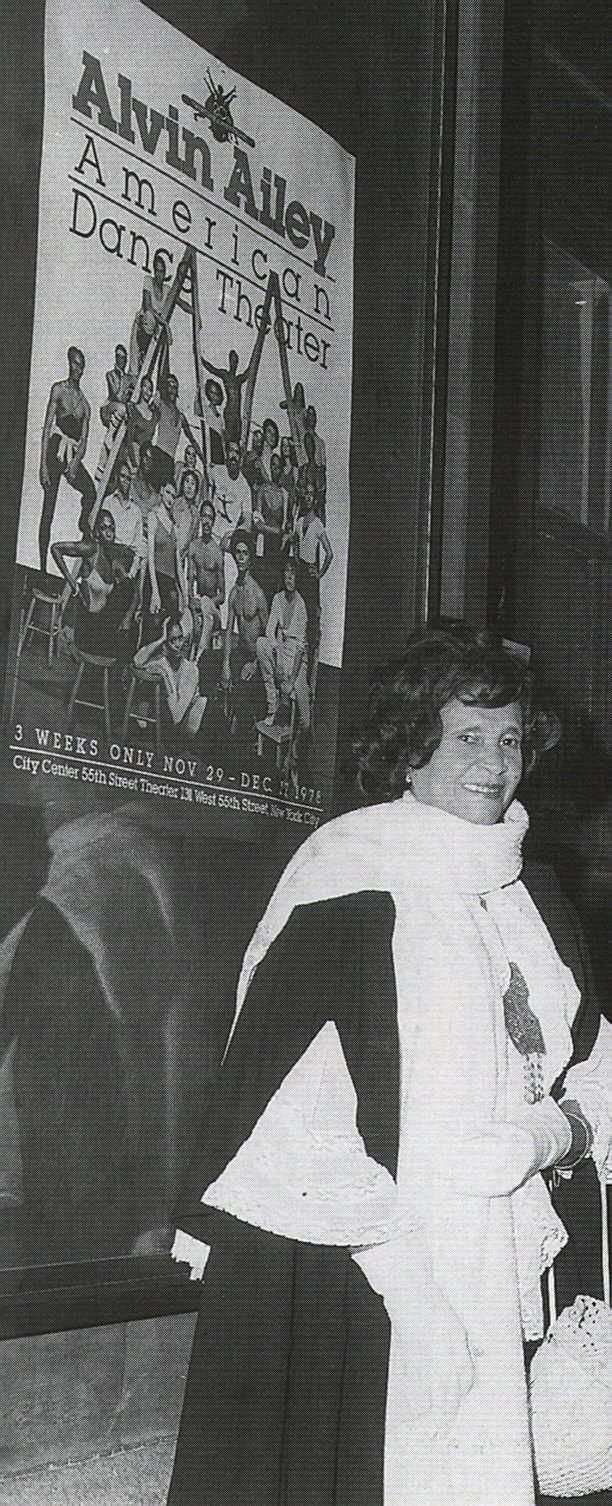 McBurnie was chosen as the Caribbean representative at the British Industries Fair in 1952, London. Photograph courtesy Beryl McBurnie