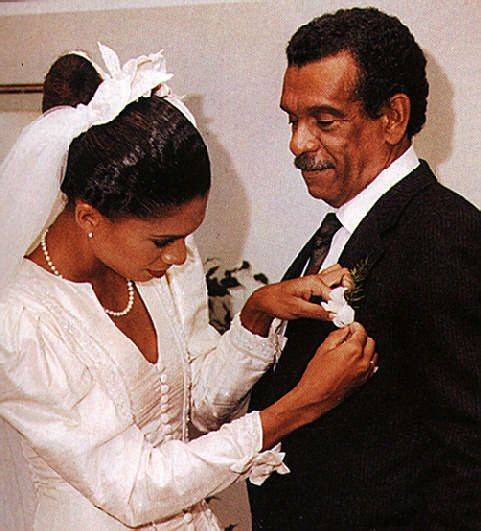At daughter Lizzy's wedding in Trinidad, a few days before the Nobel announcement. Photograph by Noel Norton
