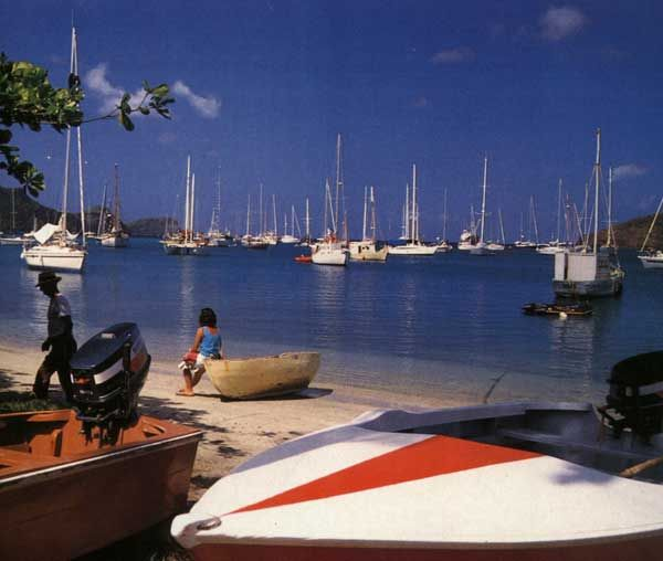 Bequia boats. Photograph by Mark Meredith