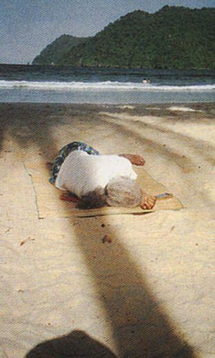 Selvon enjoys Maracas Beach in Trinidad. Photograph by Ken Ramchand