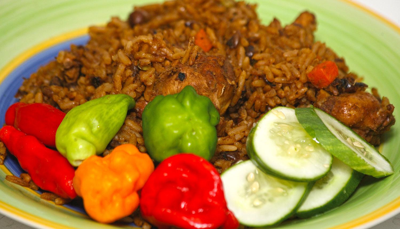 Pelau, a traditional Caribbean dish. Photograph by Shirley Bahadur