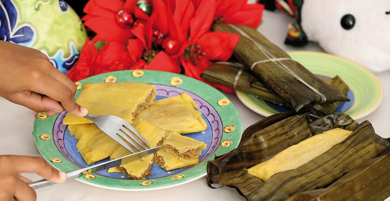 Pastelles, a popular Christmas staple. Photograph by Shirley Bahadur