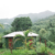 One of the four Ambassabeth eco-cabins, run by Lynette Wilks, on the Cunha Cunha pass. Photograph by Emily Zobel Marshall