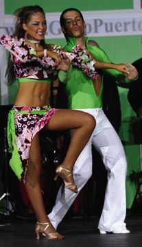 A pair of competitors at the 2005 Puerto Rico Salsa Congress. Photograph by Charlie Santiago and Julio Costoso/Courtesy www.fotosenclave.com