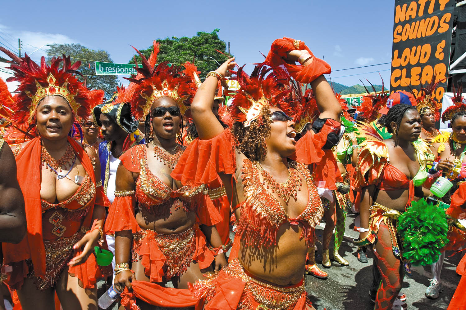 Trini Revellers' production for 2007, La Revolution Française, (led by David Cameron) on Ariapita Avenue. Photograph by Mark Lyndersay