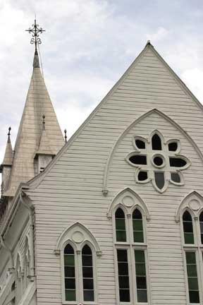 St George's Cathedral in the capital, Georgetown. Photograph by Roberta Parkin