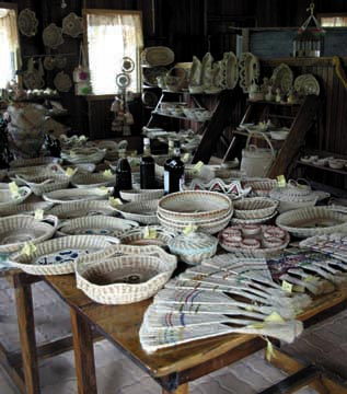 Amerindian craft on sale in Georgetown. Photograph by Roberta Parkin