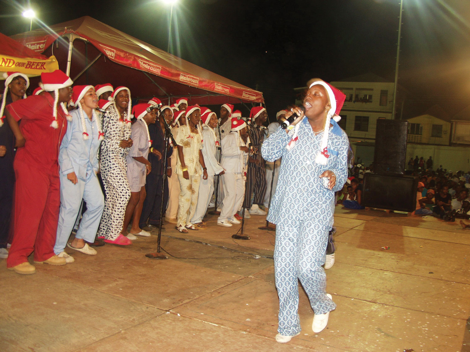 A group of singers at the SVG National Carolling Contest. Photograph courtesy SVG Nine Mornings Committee