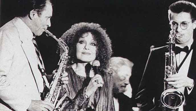 Cleo Laine and band. Photograph by Sefton Samuels