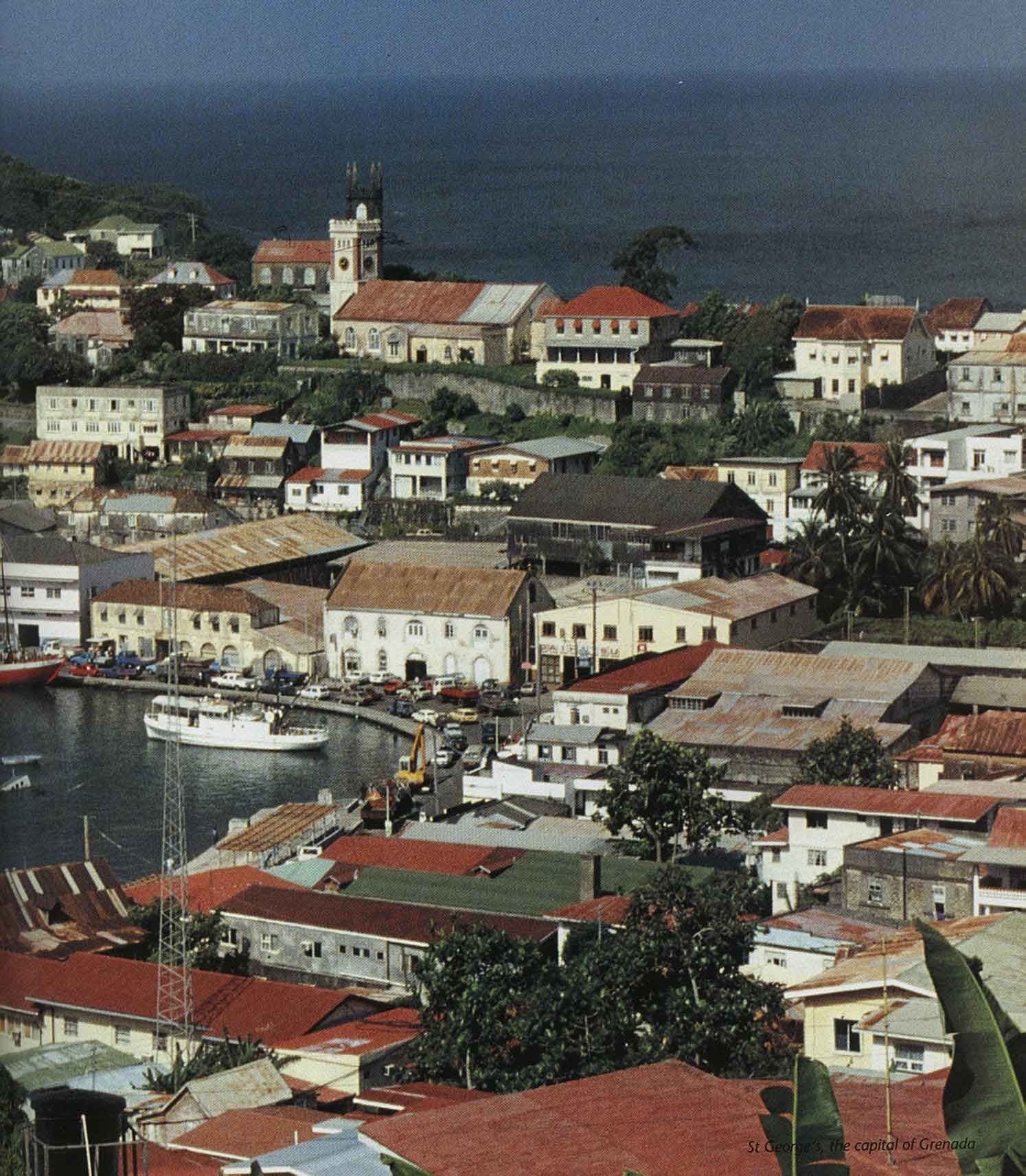 St. George's, the capital of Grenada. Photograph by Jim Rudin