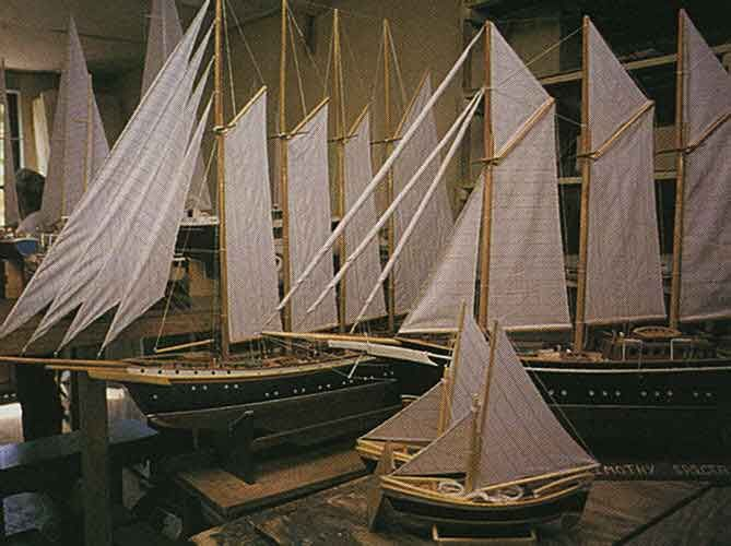 Model boats by the Sargeant brothers at Bequia. Photograph by Chris Huxley