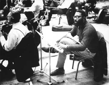 Shake Keane in the rehersal room in the 1960s