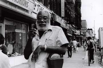 Shake Keane in his Bedford Stuyvesant neighbourhood, 1989