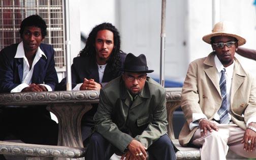 Black Lyrics: (from left) Arnold Goindhan, Mark Taylor, Mark Nottingham, Darwin Edwards. Photograph by Jeffrey Chock