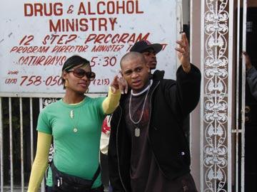 Nzinga with J.D. Williams. Photograph by Araya Crosskill
