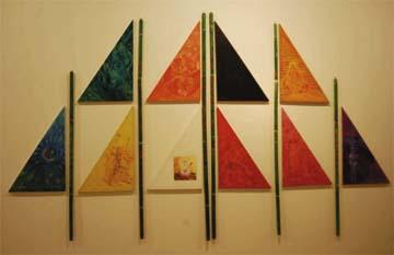 Colours of Self/God (1996), mixed media construction