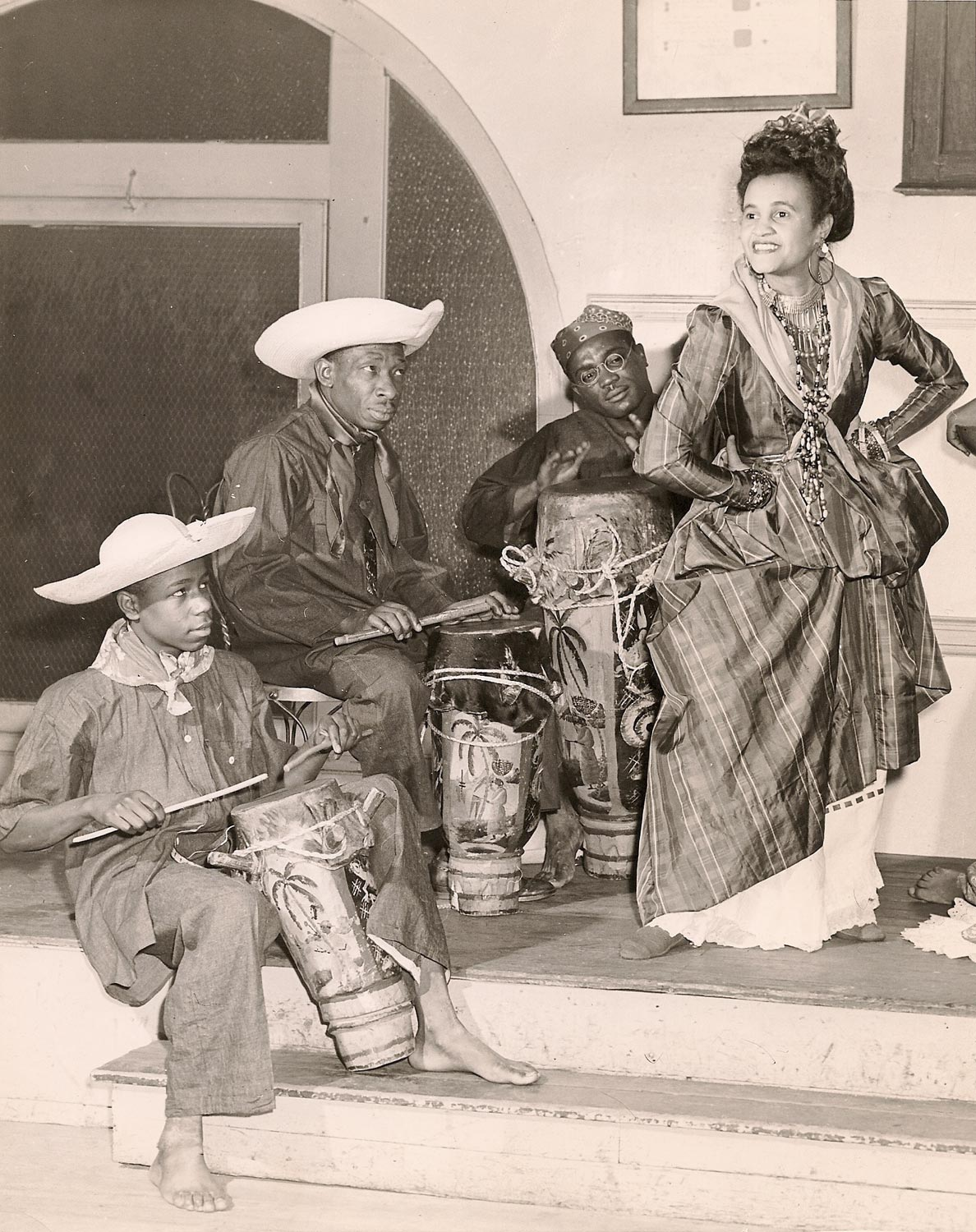 Belle Rosette and drummers. Photograph courtesy the Ray Funk Collection